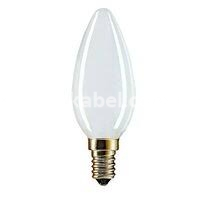 Лампа накаливания 60W PILA В35 свечка E14 матовый