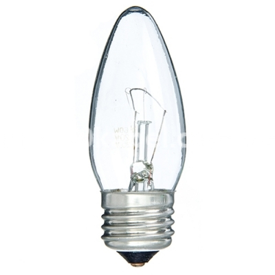Лампа накаливания 60W PILA В35 свечка E27 прозрачный