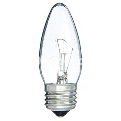 Лампа накаливания 40С1/СL/Е27 свечка прозрачная GE 10871
