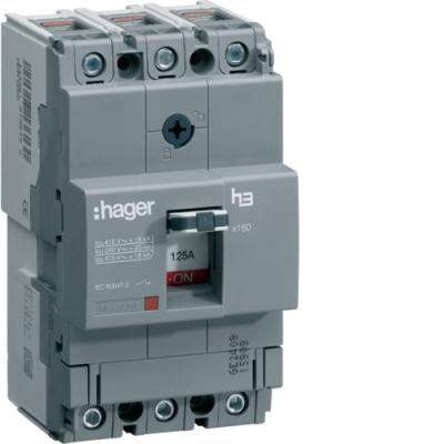 Автоматический выключатель x250, In = 125А, 3п, 40kA, Трег./Мрег.