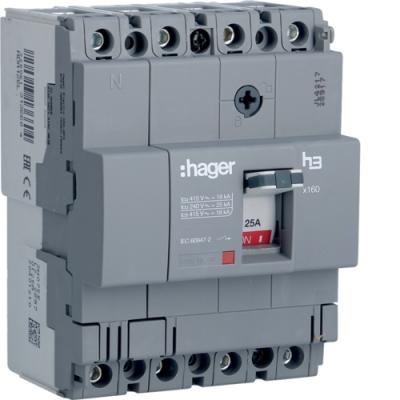 Автоматический выключатель x250, In = 125А, 4п, 40kA, Трег. / Мрег.